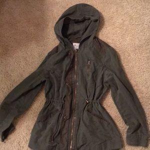 American Rag Jackets & Coats - Military green hooded jacket
